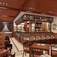 Дизайн-проект пивного бара в коричневым цвете