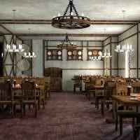 Большой зал пивного бара