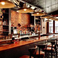 Рабочее место бармена в стилистике лофта