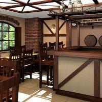 Дизайн пивного заведения с элементами лофта