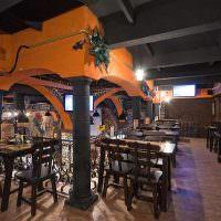 Черный потолок в ирландском баре