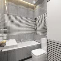 Дизайн совмещенной ванной в серых тонах