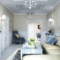 Дизайн вытянутого зала в панельном доме