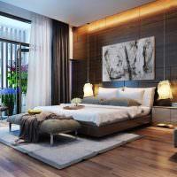 Декорирование спальни деревянными панелями