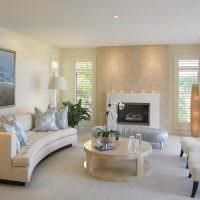 Современная гостиная в белом цвете