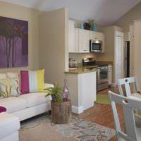 Дизайн кухни-гостиной в квартире панельного дома