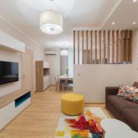 Дизайн квартиры-студии вытянутой планировки