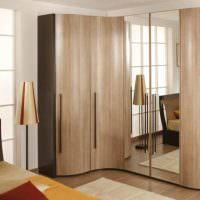 Дизайн спальни с угловым шкафом
