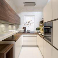 П-образная кухня в стиле минимализма