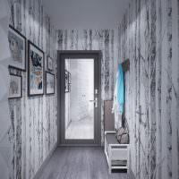 Узкий коридор в сером цвете