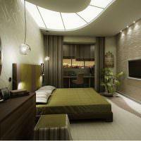 Оливковый цвет в оформлении интерьера спальни