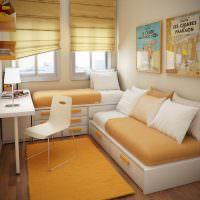 Детский диванчик в узкой комнате