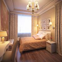 Туалетный столик в спальной комнате классического стиля