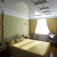 Спальня молодых супругов с зеркальным потолком