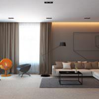 Дизайн зала в минималистическом стиле