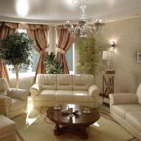Декорирование гостиной комнатными растениями