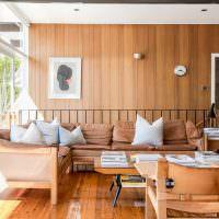 Облицовка стен деревянными панелями