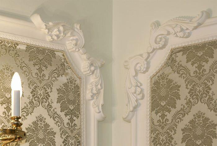Декорирование стен гипсовой лепниной