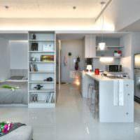 Дизайн квартиры-студии для современной семьи