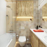 Мозаичная плитка в современной ванной