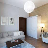 Отделка стен квартиры имитацией бруса