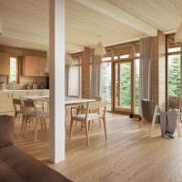Дизайн кухни-столовой в загородном доме