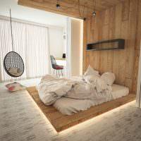 Интерьер современной спальни в эко-стиле