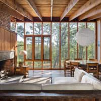 Деревянные окна в каркасном доме
