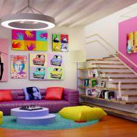 Плакаты в гостиной стиля поп-арт