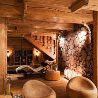 Деревянные кресла из массива сосны