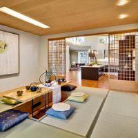 Обеденная зона в японском стиле