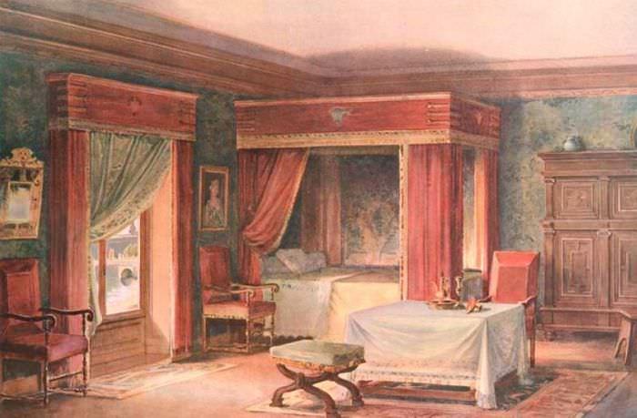 Дизайн спальни в эпоху средневековья