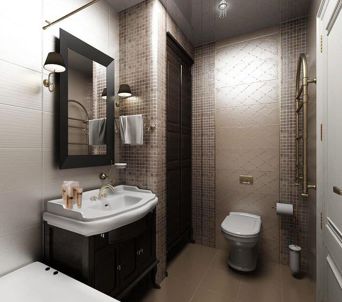 Раковина с бортиками в дизайне ванной комнаты