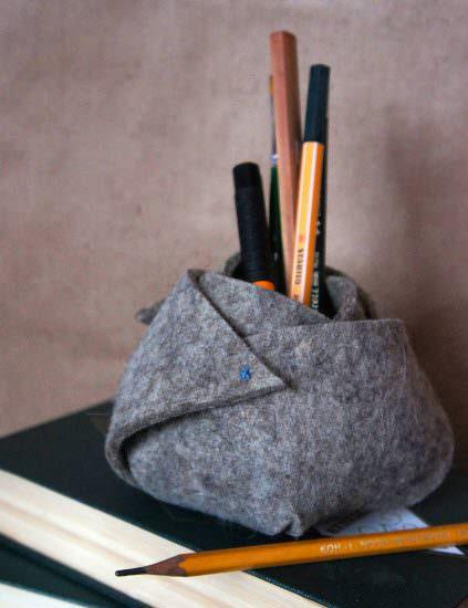 Декоративная подставка для карандашей своими руками