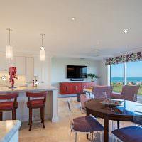 Освещение совмещенной кухни-гостиной