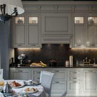 Кухонные шкафы с встроенной подсветкой
