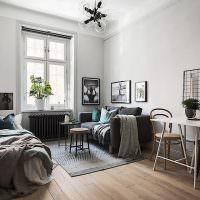 Оформление квартиры студии в скандинавском стиле