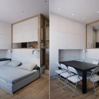 Кровать-трансформер с обеденной зоной