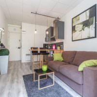 Дизайн квартиры студии свободной планировки