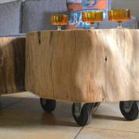 Журнальный столик из спила дерева