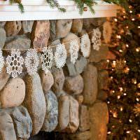 Часть портала камина из натурального камня