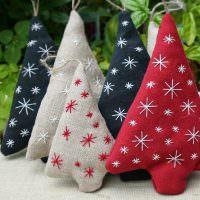 Снежинки на мешочках для новогодних подарков