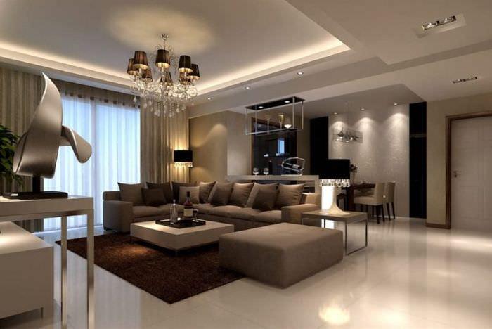 Организация комфортного освещения в гостиной