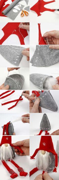 Мастер-класс по изготовлению гномика из ткани