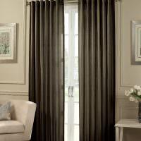Плотные шторы на двери гостиной