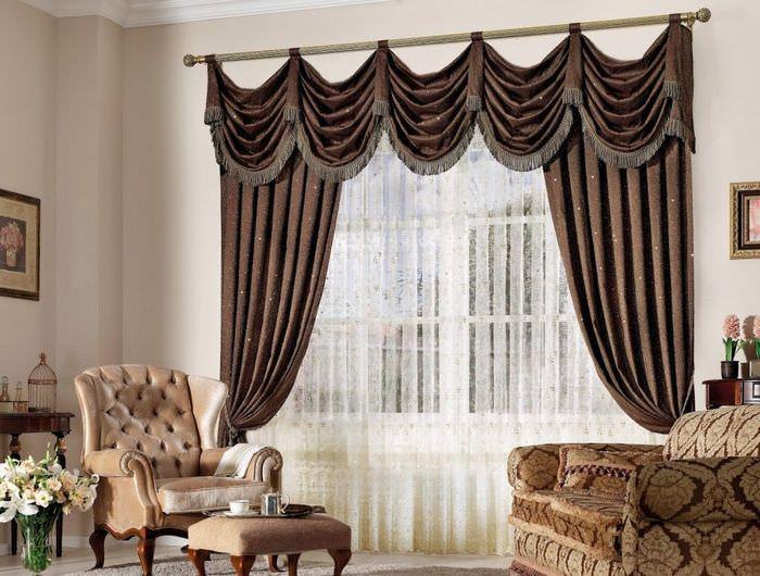 Картинки красивых штор в гостиную фото