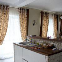Коричневый цвет в дизайне кухни