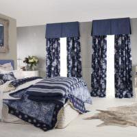 Синий цвет в декорировании спальни