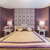 прорезные декоративные элементы в интерьере спальни