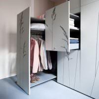 Шкаф с выдвижными блоками для верхней одежды
